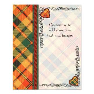 "Tartán escocés de la falda escocesa de la tela folleto 4.5"" x 5.6"""