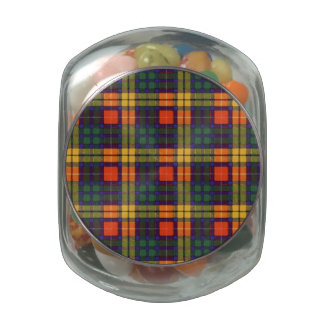 Tartán escocés de la falda escocesa de la tela frascos de cristal