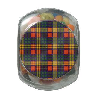 Tartán escocés de la falda escocesa de la tela frascos de cristal jelly belly