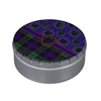 Tartán escocés de la falda escocesa de la tela frascos de dulces