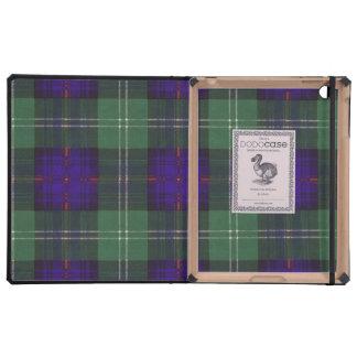 Tartán escocés de la falda escocesa de la tela iPad funda