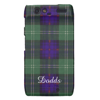 Tartán escocés de la falda escocesa de la tela droid RAZR carcasa