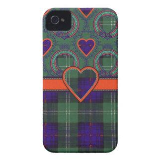 Tartán escocés de la falda escocesa de la tela iPhone 4 Case-Mate fundas