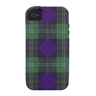 Tartán escocés de la falda escocesa de la tela vibe iPhone 4 fundas