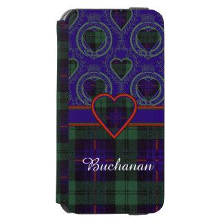 Tartán escocés de la falda escocesa de la tela funda billetera para iPhone 6 watson