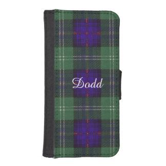 Tartán escocés de la falda escocesa de la tela funda tipo cartera para iPhone 5