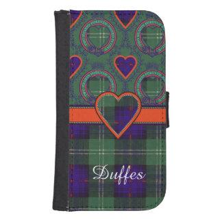 Tartán escocés de la falda escocesa de la tela cartera para teléfono