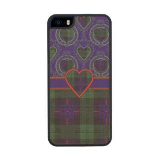 Tartán escocés de la falda escocesa de la tela funda de arce carved® para iPhone 5 slim