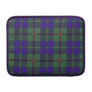 Tartán escocés de la falda escocesa de la tela fundas macbook air