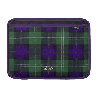 Tartán escocés de la falda escocesa de la tela fundas MacBook