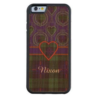 Tartán escocés de la falda escocesa de la tela funda de iPhone 6 bumper cerezo