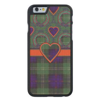 Tartán escocés de la falda escocesa de la tela funda de iPhone 6 carved® de arce