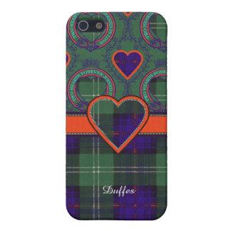 Tartán escocés de la falda escocesa de la tela iPhone 5 cárcasa