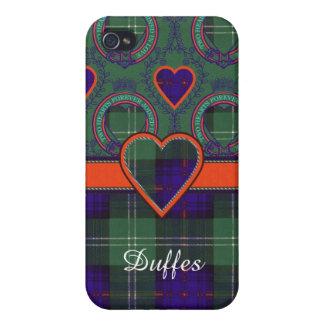Tartán escocés de la falda escocesa de la tela iPhone 4 cárcasas