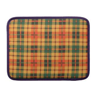 Tartán escocés de la falda escocesa de la tela funda macbook air