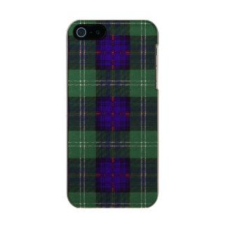 Tartán escocés de la falda escocesa de la tela carcasa de iphone 5 incipio feather shine