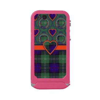 Tartán escocés de la falda escocesa de la tela carcasa de iphone 5 incipio atlas id