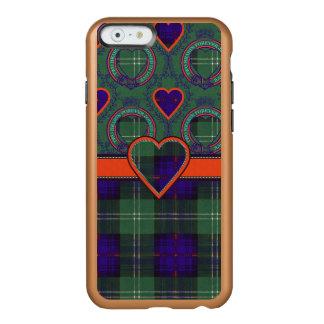 Tartán escocés de la falda escocesa de la tela funda para iPhone 6 plus incipio feather shine