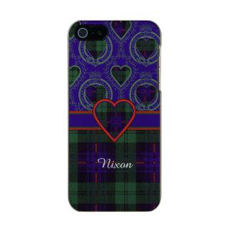 Tartán escocés de la falda escocesa de la tela funda para iPhone 5 incipio feather shine