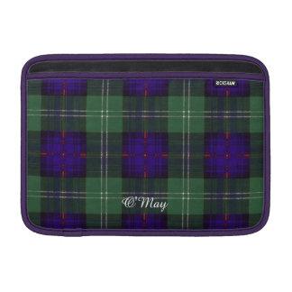 Tartán escocés de la falda escocesa de la tela funda para macbook air