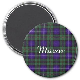 Tartán escocés de la falda escocesa de la tela imán redondo 7 cm