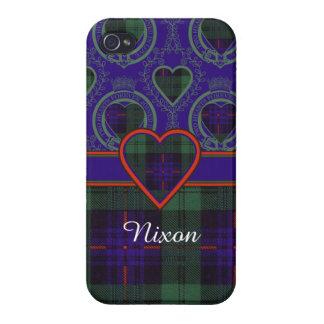 Tartán escocés de la falda escocesa de la tela iPhone 4 fundas
