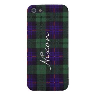 Tartán escocés de la falda escocesa de la tela iPhone 5 fundas