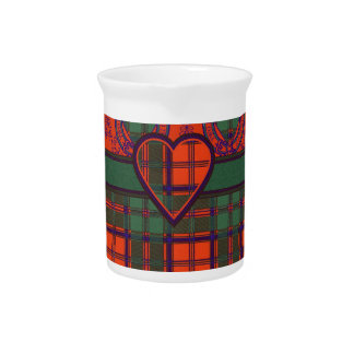 Tartán escocés de la falda escocesa de la tela jarrones