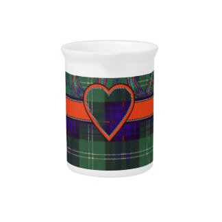 Tartán escocés de la falda escocesa de la tela jarrón