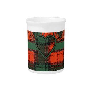 Tartán escocés de la falda escocesa de la tela jarra para bebida