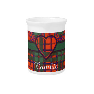 Tartán escocés de la falda escocesa de la tela jarra de beber