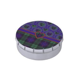 Tartán escocés de la falda escocesa de la tela jarrones de caramelos