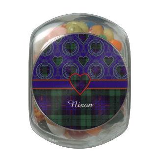 Tartán escocés de la falda escocesa de la tela jarrones de cristal