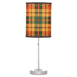 Tartán escocés de la falda escocesa de la tela lámpara de mesilla de noche