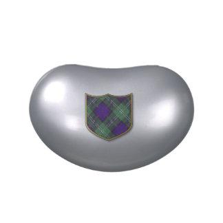 Tartán escocés de la falda escocesa de la tela jarrones de dulces