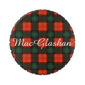 Tartán escocés de la falda escocesa de la tela latas de caramelos
