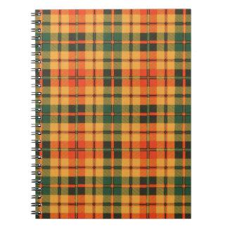 Tartán escocés de la falda escocesa de la tela libretas espirales