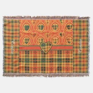 Tartán escocés de la falda escocesa de la tela manta