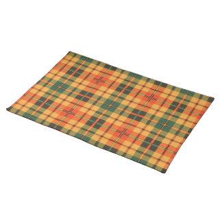 Tartán escocés de la falda escocesa de la tela mantel individual