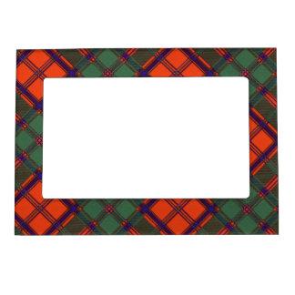 Tartán escocés de la falda escocesa de la tela marcos magneticos