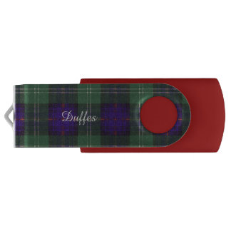 Tartán escocés de la falda escocesa de la tela memoria USB 3.0 giratoria