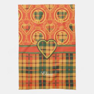 Tartán escocés de la falda escocesa de la tela toallas de mano