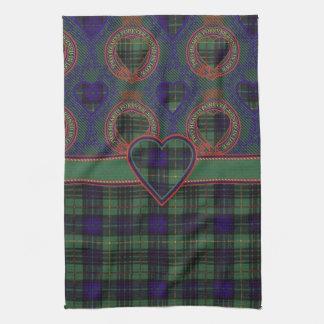 Tartán escocés de la falda escocesa de la tela toallas de cocina
