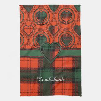 Tartán escocés de la falda escocesa de la tela toalla de cocina