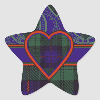 Tartán escocés de la falda escocesa de la tela pegatina en forma de estrella