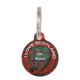 Tartán escocés de la falda escocesa de la tela placas para mascotas