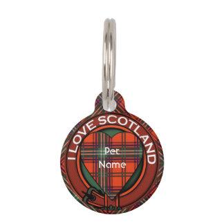 Tartán escocés de la falda escocesa de la tela placas de mascota