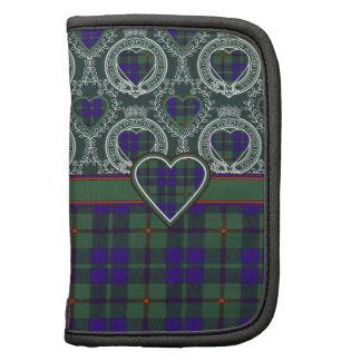 Tartán escocés de la falda escocesa de la tela planificador