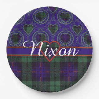 Tartán escocés de la falda escocesa de la tela plato de papel de 9 pulgadas