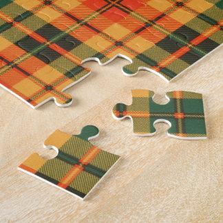 Tartán escocés de la falda escocesa de la tela puzzles con fotos